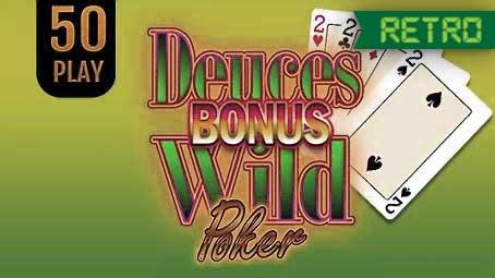 Bonus Deuces Wild Poker 50 Play