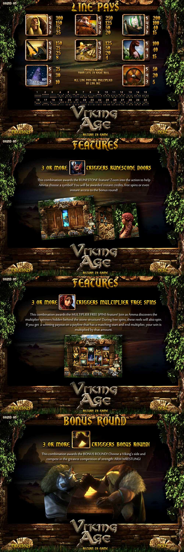 Viking Age Pay Table Screenshot, Big Dollar Casino